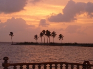 Sunset over the backwaters